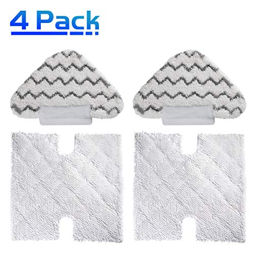 X Home 4 Pack Shark Steam Mop Microfiber Replacement Cleaning Pads for Shark Lift-Away Pro & Genius Steam Pocket Mops 3973 S3973D S5002 S5003D S6001 S6002 S6003