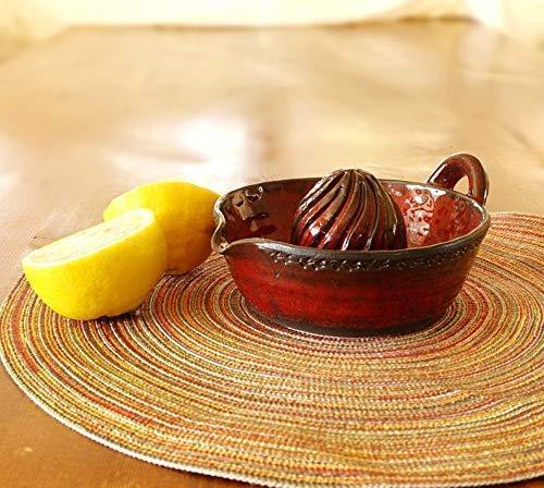 Ceramic Citrus juicer, Pottery citrus squeezer, Red glaze ceramic, Handmade, Wheel thrown citrus juicer, Lemon Juicer, Gift idea, art