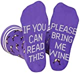 Saucey Socks Bring Me Wine Beer Coffee Socks for Men Women, Luxury Cotton Designs, Great Gift