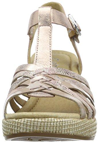 Gabor Gabor Comfort - Sandalias de Punta Descubierta, Mujer Rosa (65 lachs kombi)