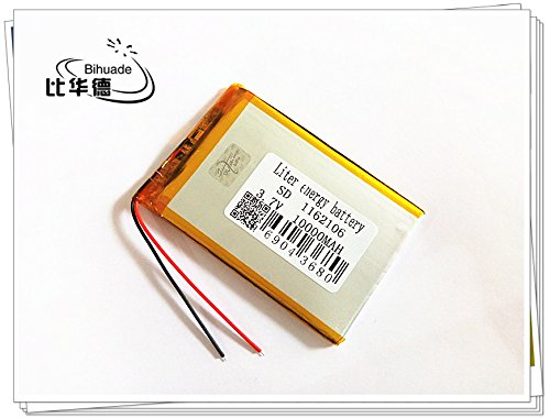 3.7V 10000mah 1162106 Lithium Polymer Li-Po Rechargeable Battery For DIY Mp3 MP4 MP5 GPS PSP bluetooth