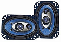 Pyle 4'' X 6'' Three Way Sound Speaker System - Pro Mid Range Triaxial Loud Audio 240 Watt Per Pair W4 Ohm Impedance & 34'' Piezo Tweeter For Car Component Stereo Pl463bl