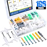 Glarks 196Pcs Self Drilling Drywall Anchors and Hollow Wall Anchors with Screws Assortment Kit