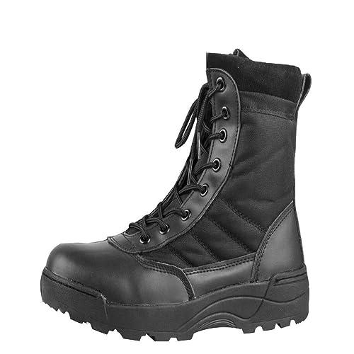 Huatime Botines Desert Hombre - Zapatos Calzado de Trabajo Botas Militares Combate Tactica La Seguridad Tobillo Ejército Seguridad Militar: Amazon.es: ...