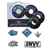 Envy Classic Wheel Sticker Pack (for use with 120mm Wheels)