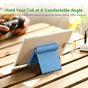 UGREEN Phone Stand Cell Phone Holder for iPhone X, iPhone 8 6S, Samsung Mobile Phone, Apple iPhone 7 Plus 5S 6 SE 5C, Galaxy S9 S7 Edge S8 S5 S6, LG G6 V20 K10, Google Pixel, HTC Smartphone (Blue)