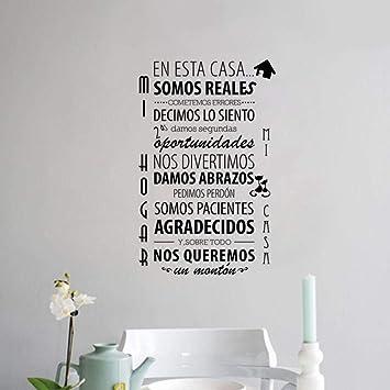 vinilos EN ESTA CASA Normas de la casa española Etiqueta de vinilo ...