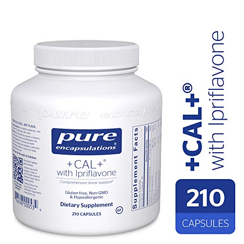 (Pure Encapsulations - +Cal+ with Ipriflavon - Mineral, Vitamin, and Herbal Supplement to Promote Skeletal Strength* - 210 Capsules)