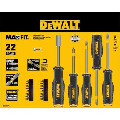 Dewalt Maxfit Screwdriver Set (22 Pieces)