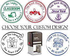 Teacher, Student, Library Classroom Stamps, From the Classroom of - From the Desk of - Please Return to - From the Library of - Read it Love it Return it - This Book Belongs to. Self Inking Stamps with Awesome Designs - CHANGE ANY WORDING!Pic...