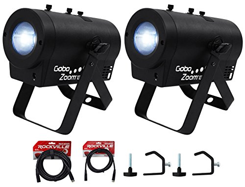 2-Chauvet-DJ-Gobo-Zoom-USB-Custom-Gobo-Projector-Lights10-GobosClampsCables