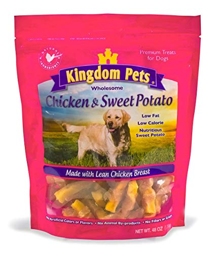 (Kingdom Pets Premium Dog Treats, Chicken & Sweet Potato Jerky Twists, 48-Ounce Bag)