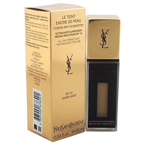 Yves Saint Laurent Fusion Ink Broad Spectrum SPF 18 Women's Foundation, No. Bd40 Warm Sand, 0.84 (Fusion Ink)