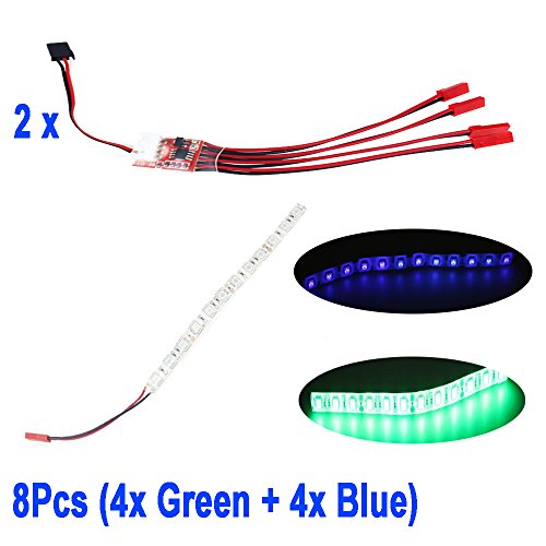 qwinout-2pcs-3s-led-light-flash-bar-strip-controller-jst-connector-8x-led-night-lights-waterproof-fl