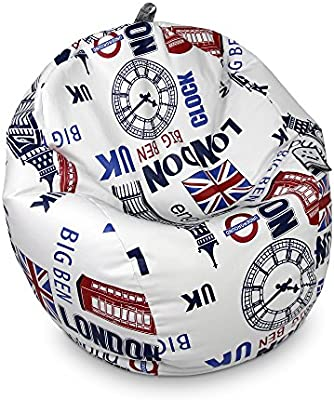HAPPERS Puff Pelota Polipiel London: Amazon.es: Hogar