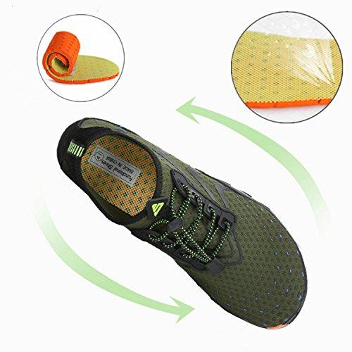 a6be60d8faf0 katliu Beach Shoes Barefoot Water Skin Shoes Swim Pool Surf Yoga Aqua Shoes  for Women Men