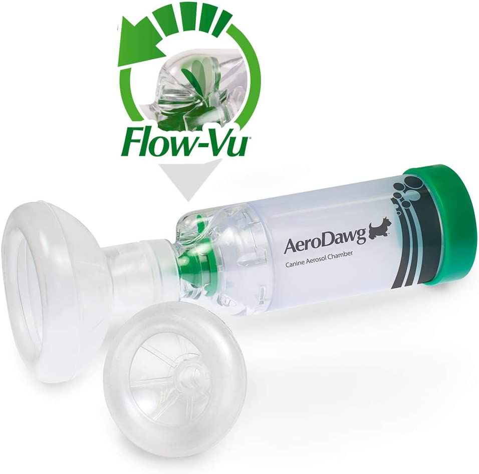 AeroDawg The Original Canine Aerosol Chamber Inhaler Spacer for Dogs and Puppies with Exclusive Flow-VU Indicator