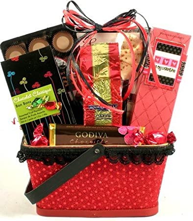 Amazon Com Red Hot Valentine S Day Gift Basket For Her Grocery