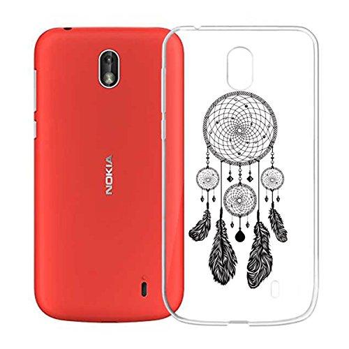 Funda para Nokia 1 , IJIA Transparente Sencillo pausas Musicales TPU Silicona Suave Cover Tapa Caso Parachoques Carcasa Cubierta para Nokia 1 (4.5) WM22