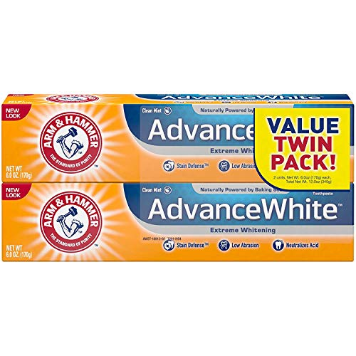Arm & Hammer VBNGR Advance White Extreme Whitening with Stain Defense, Fresh Mint, 6 oz 2 Twin Packs - 4 Total (Packaging May Vary)... ()