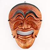 Real Human Face Size Korea Traditional Hahoe Mask Yangban Nobleman