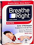 Breathe Right Nasal Strips Extra 26 Each (Pack of 11)