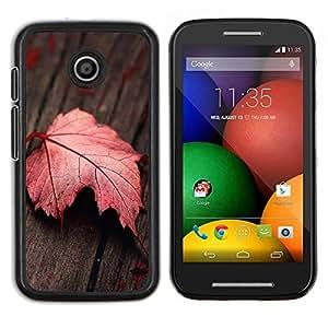 Caucho caso de Shell duro de la cubierta de accesorios de protección BY RAYDREAMMM - Motorola Moto E - Hoja roja