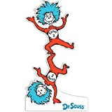 BirthdayExpress Dr Seuss Room Decor - Thing 1 and Thing 2 Life Size Cardboard Standup