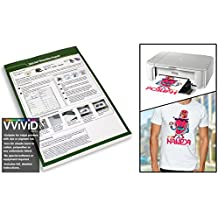 "VViViD Inkjet Printable Iron-On 8.5"" x 11"" Image Transfer Paper Sheet Pack (25 sheets)"