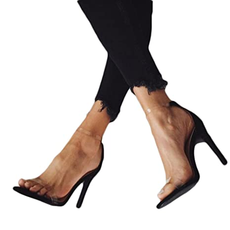 c3e1f936ae6c8 Image Unavailable. Image not available for. Color  Hopwin Women Stiletto  Heel Sandals