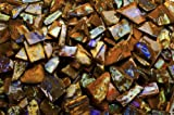 Fantasia Materials: 125 cts of Boulder Opal Professional Hand Cut Slices - Raw Natural Crystals for Cabbing, Cutting, Lapidary, Polishing, Wire Wrapping, Wicca and Reiki Crystal Healing