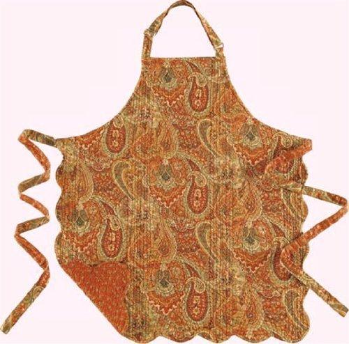 C&F Home 29X31 ADULT Quilted Reversible Apron, TANGIERS