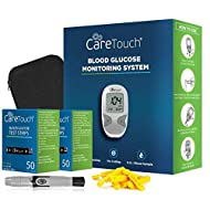 Care Touch Diabetes Testing Kit - Care Touch Blood Glucose Meter, 100 Blood Test Strips, 1 Lancing Device, 30 Gauge Lancets-100 Count, Control Solution and Carrying Case