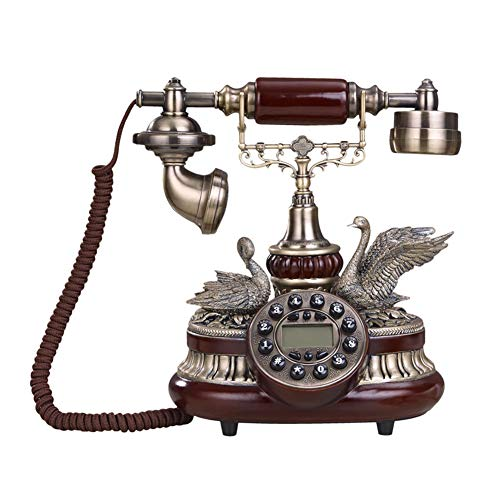 Cacoffay MandolineRetro Phone with Backlight Home Landline Creative Fixed Seat Antique Phone Living Room Bedroom Home Wedding Telephone from Cacoffay