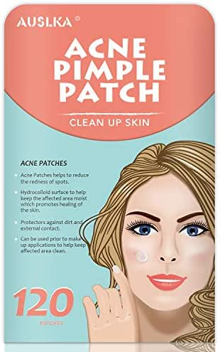 Acne Pimple Master Patch, Acne Spot Treatment, Hydrocolloid Acne Dots for Face (120 Patches)