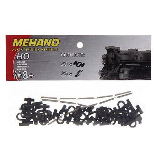 Mehano F246 Schienenverbindungen und Steckverbindern Set, 40 Stück, Mehrfarbig