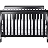 Dream On Me Ashton Convertible 5-in-1 Fixed Side Crib (Black)