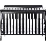 Dream On Me Ashton 5 In 1 Convertible Crib, Black