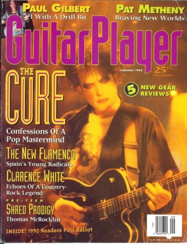 Guitar Player Magazine (September 1992) (The Cure -Confessions Of A Pop Mastermind) ()