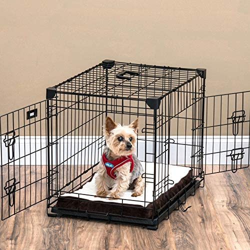 Lucky Dog 24 S Slyder Whisper Glide Sliding Door Dog Crate 2nd Side Door Access Patented Corner Stabilizers Removable Tray Rubber Feet Carrying Handle