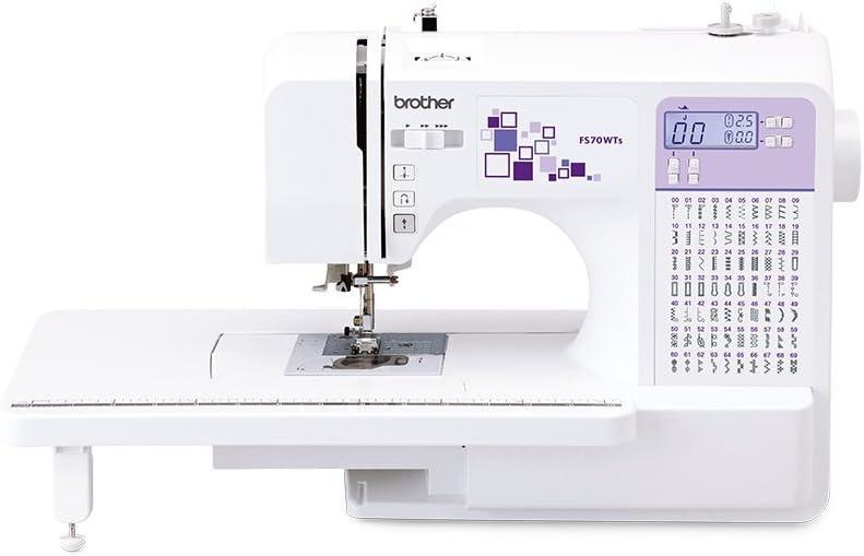Brother máquina de Coser electrónica, Acero Inoxidable, Blanco y Morado, 44 x 28 x 35 cm: Amazon.es: Hogar