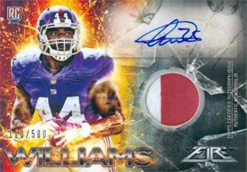 Andre Williams autographed player worn jersey patch football card ...