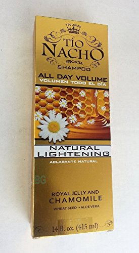 Tio Nacho Hair Strengthening Shampoo with Royal Jelly & Chamomile All Day Volume 14 oz (2 Pack)