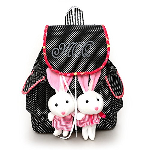 FTSUCQ Girls Canvas Bunny Student Backpack Travel Daypack Tote School Bags - Lanvin Shop
