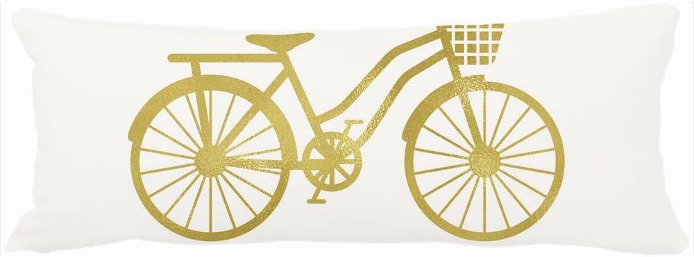Custom home almohadas disfrutar de la Ride Chic Oro bicicleta en ...