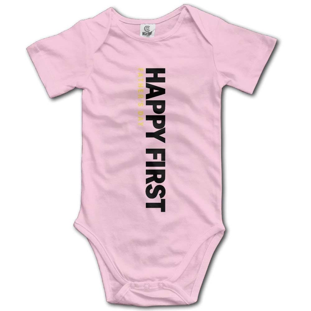 hihisapr Happy First Fathers Day Daddy Retro Newborn Baby Short Sleeve Romper Infant Summer Clothing