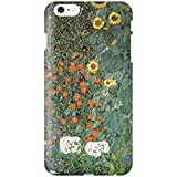 スマホケース スマートフォンケース iPhone6 6s 【側面印刷ハードケース】【アイフォン6 6s】【クリムト ひまわりの園】【名画mg24】つや消し