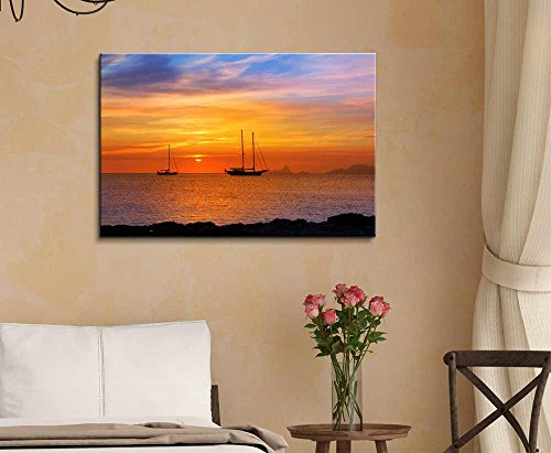 Beautiful Scenery Seascape Colorful Sunset on The Sea Home Deoration Wall Decor