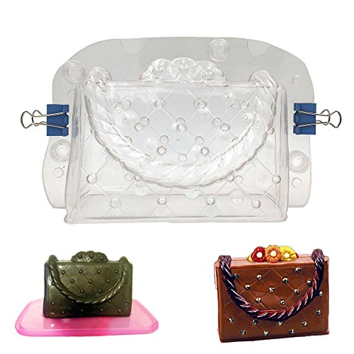 3D Handbag Shape Chocolate Mold, HULISEN DIY Cake Decoration Tools Bundle Molding Fondant Cake Mold Decorating DIY Home Baking (Handbag Mold)