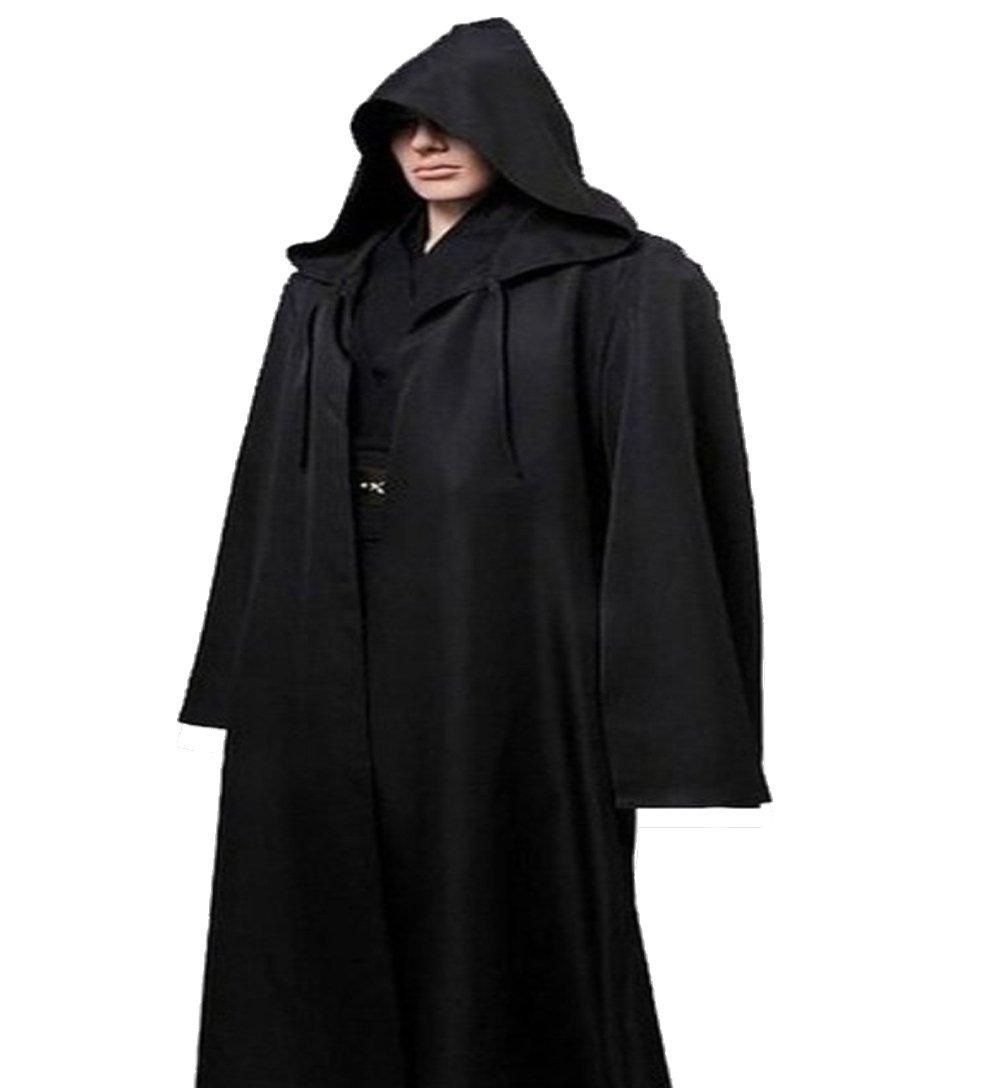 Men TUNIC Hooded Robe Cloak Knight Fancy Cool Cosplay Costume Amayar